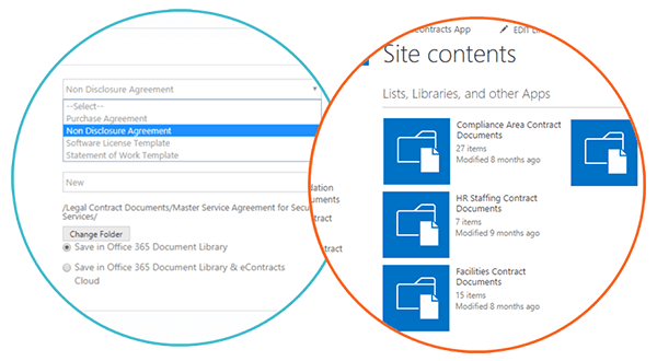 Contract Record + SharePoint Document Library